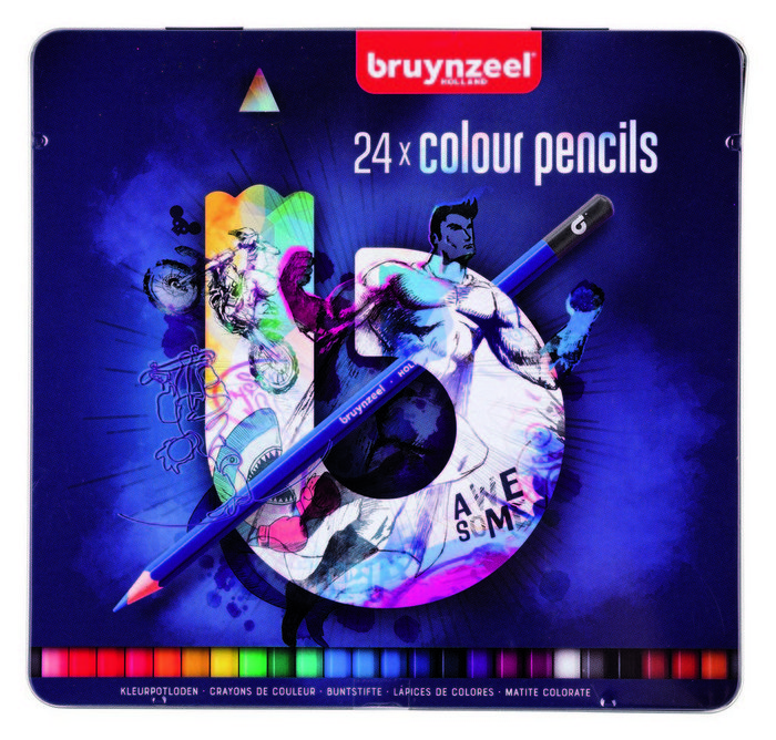 Lapiz de color bruynzell 24 uds azul