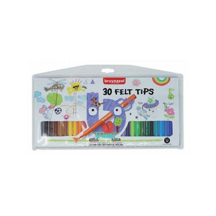 Rotulador bruynzeel estuche 30 colores
