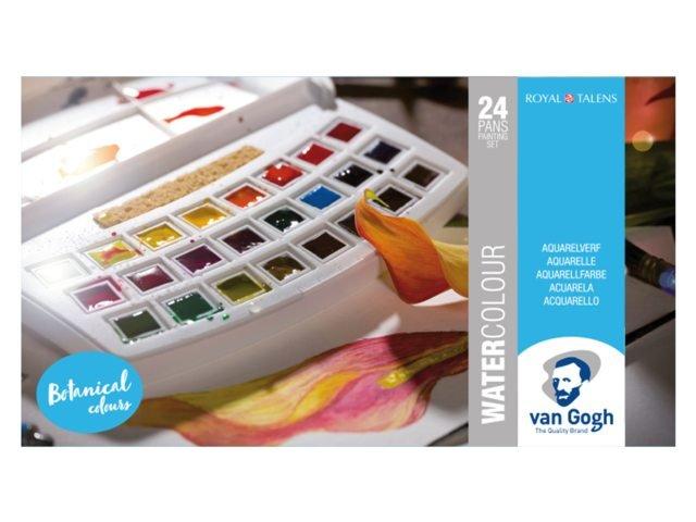 Acuarela van gogh estuche plastico 24 colores botanica