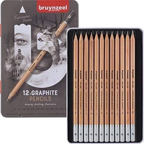 Lapiz grafito bruynzell metal estuche 12