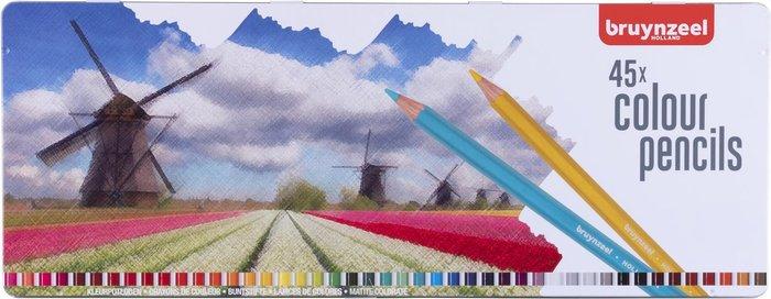 Lapiz bruynzeel 45 colores caja metal holanda