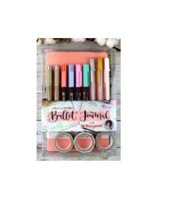 Set bullet journal rosa pastel
