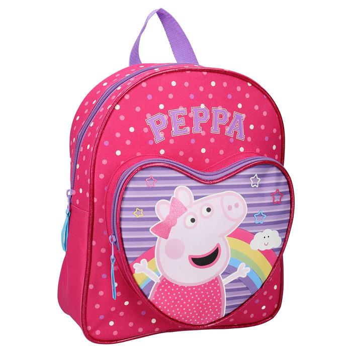 Mochila peppa pig make believe 31cm corazon