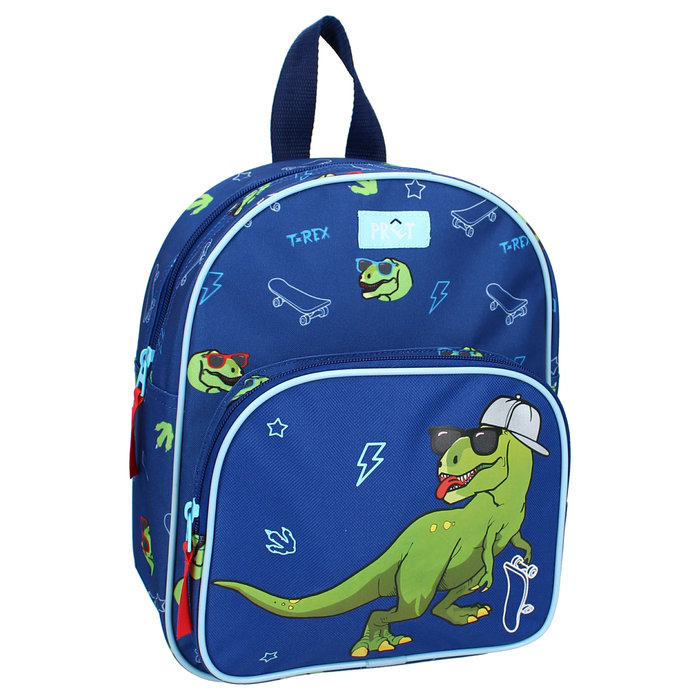 Mochila infantil   2 bolsillos dinosaurio pret get out there