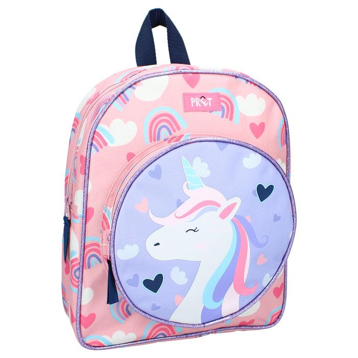 Mochila infantil   2 bolsillos unicornio pret get out there