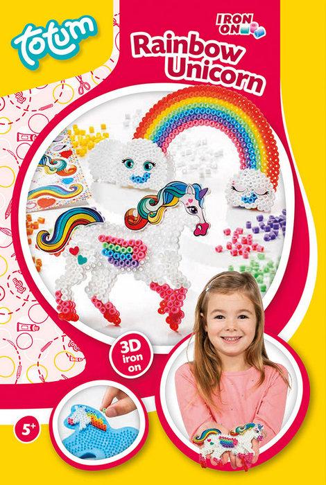 Juego unicornio 3d perlas para planchar