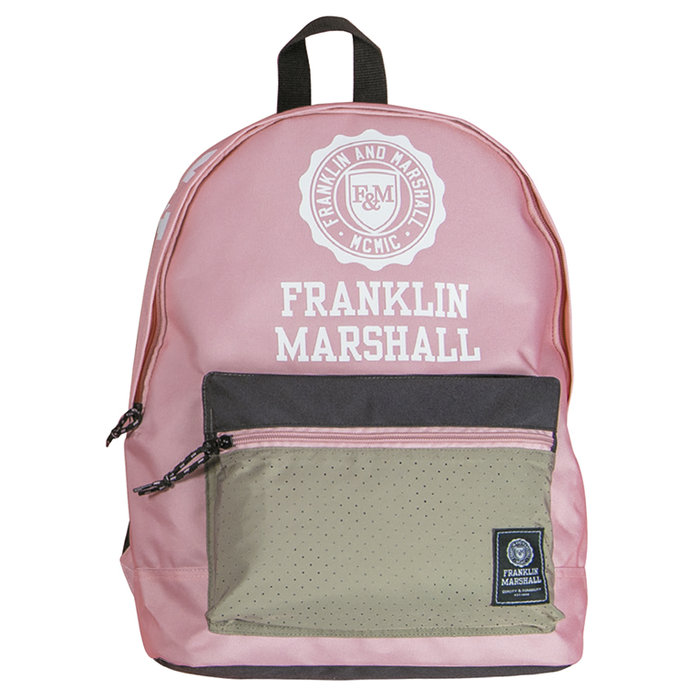 Mochila 2 cremalleras franklin marshall rosa