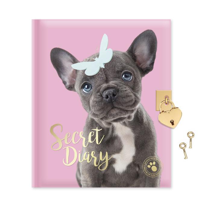 Diario con candado perrito