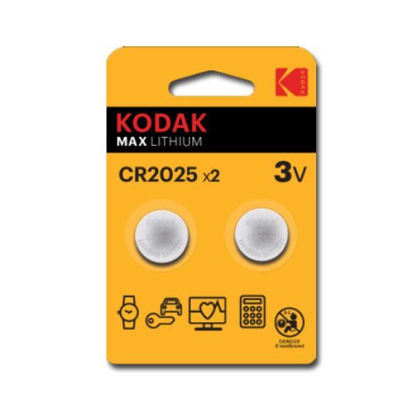 Pila boton kodak litio cr2025 3v 2 unidades
