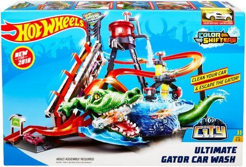 Hot wheels cocodrilo tunel de lavado