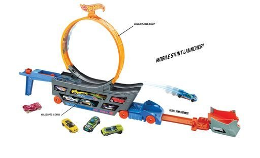 Hot wheels camion looping + 1 coche