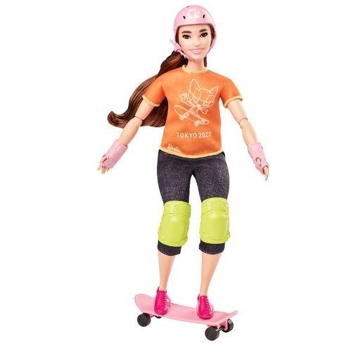 MuÑeca barbie skateboarder olimpiadas