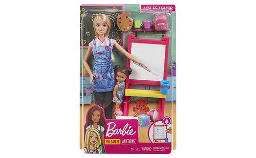 Barbie playset profesora