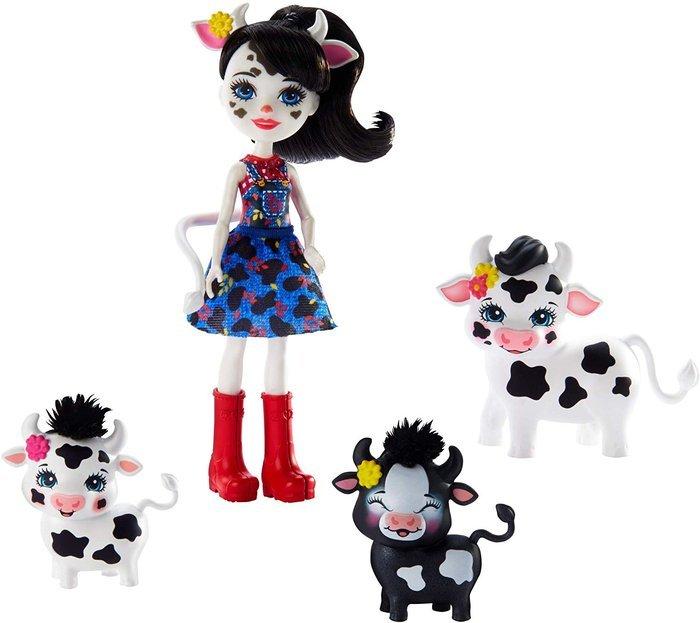MuÑecas enchantimals cambrie y vaca ricotta