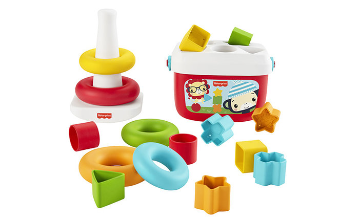 Pack fisher price eco piramide y bloques