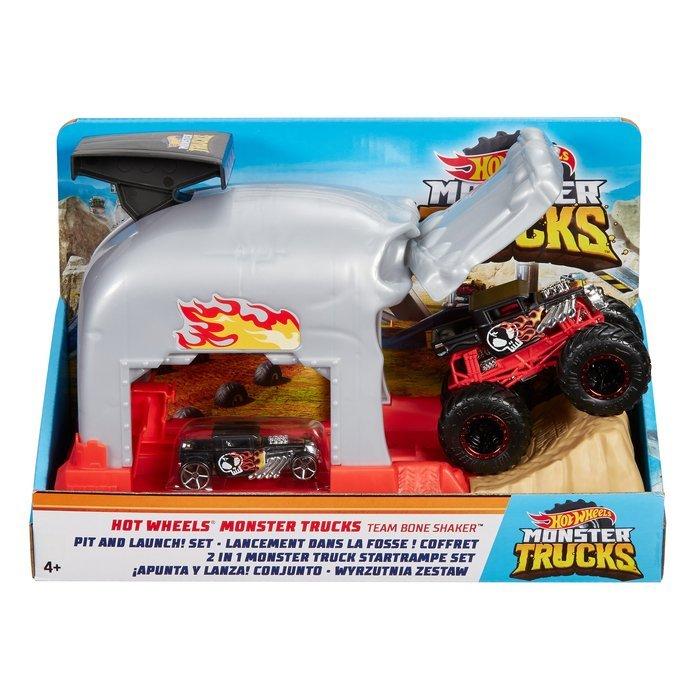Juego apunta y lanza de monster trucks de hw