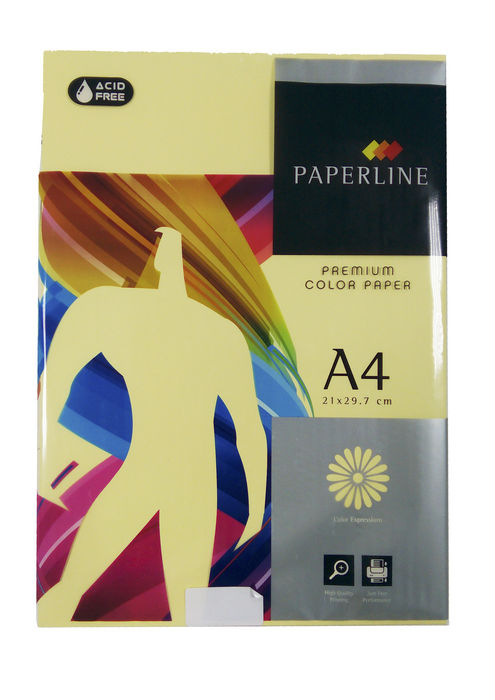 Papel a4 500h 80gr paperline amarillo crema