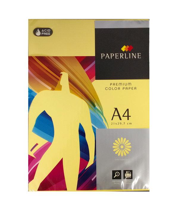 Papel a4 500h 80gr paperline amarillo
