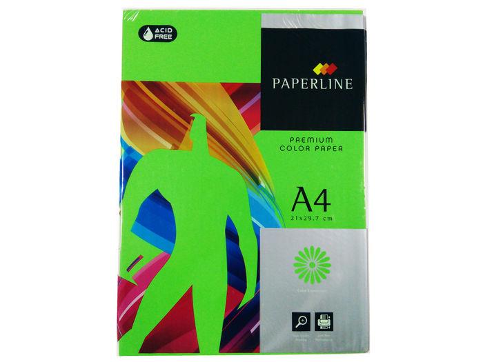 Papel a4 500h 80gr paperline verde fuerte parrot