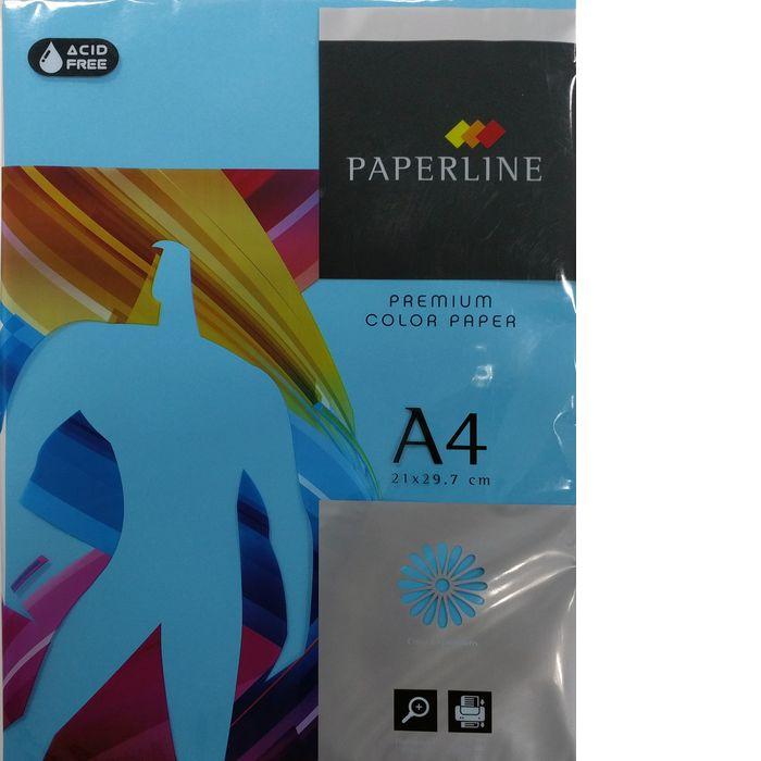 Papel a4 500h 80gr paperline turquesa
