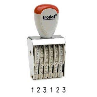 Numeradores bandas goma 5 mm