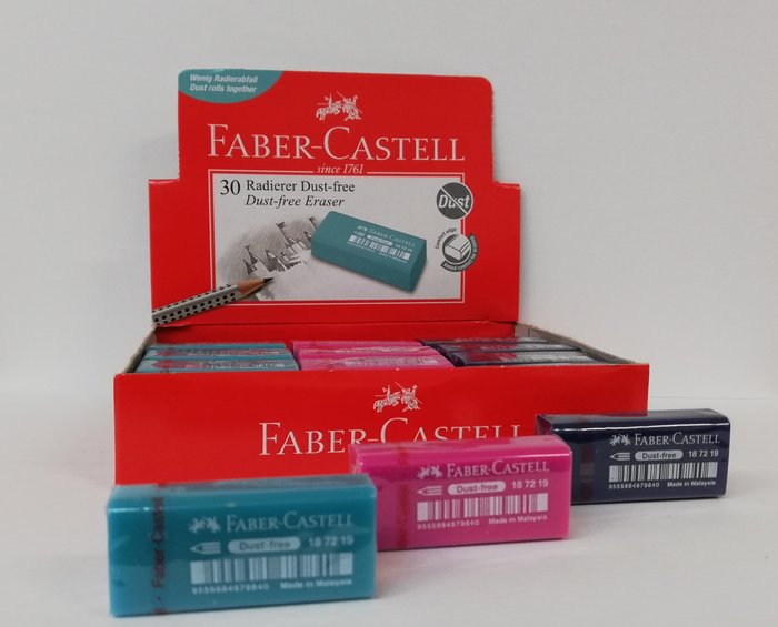 Goma faber dust free colores surtidos 187219