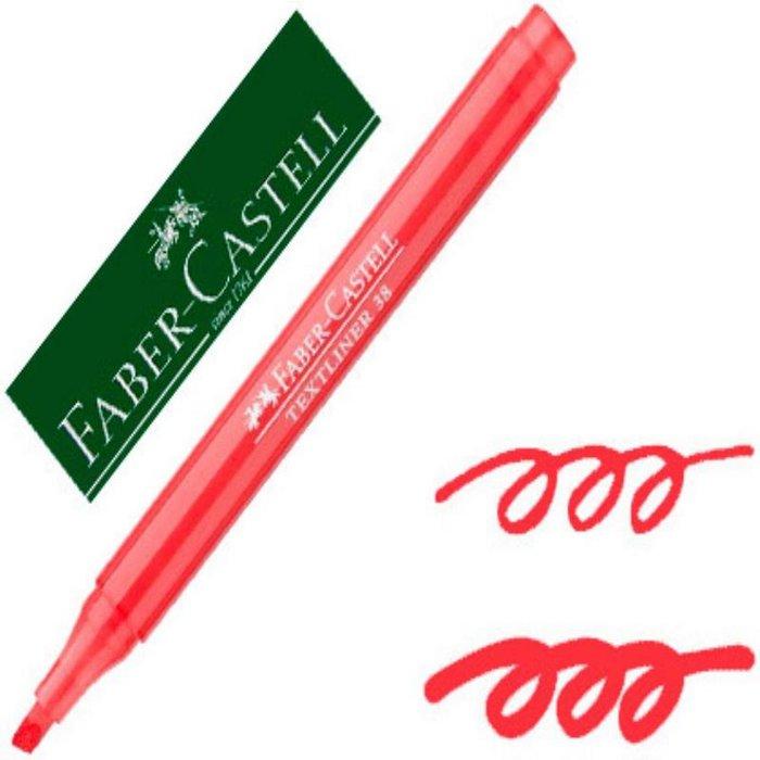 Marcador fluorescentes textliner 38 rojo