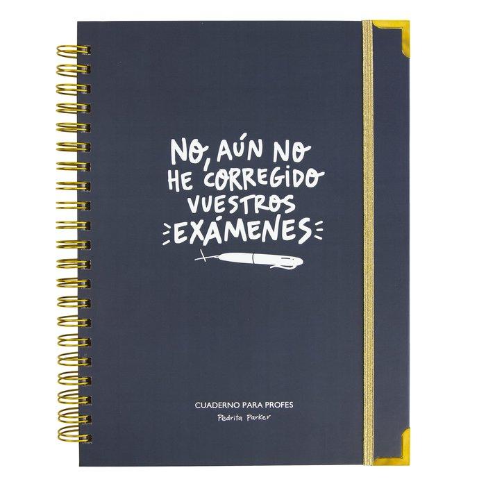 Cuaderno del profe con agenda examenes