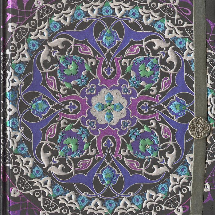 Cuaderno boncahier mandalas marcapaginas malva