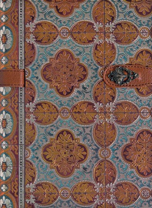 Cuaderno boncahier azulejos de portugal marcapaginas marron