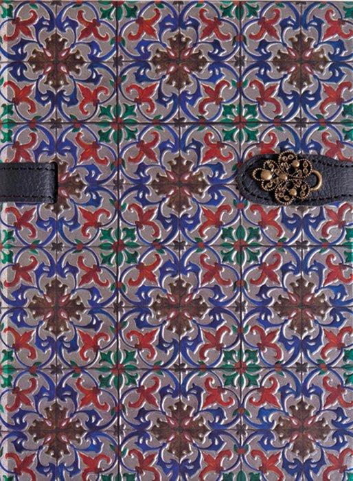 Cuaderno boncahier azulejos de portugal marcapaginas rojo