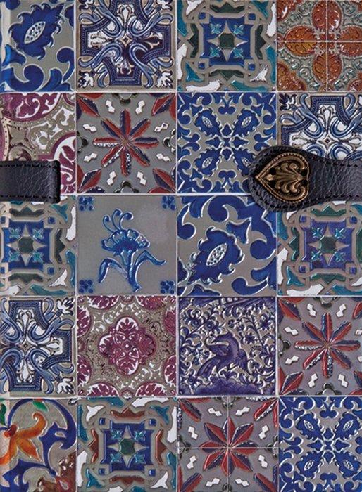 Cuaderno boncahier azulejos de portugal marcapaginas azul