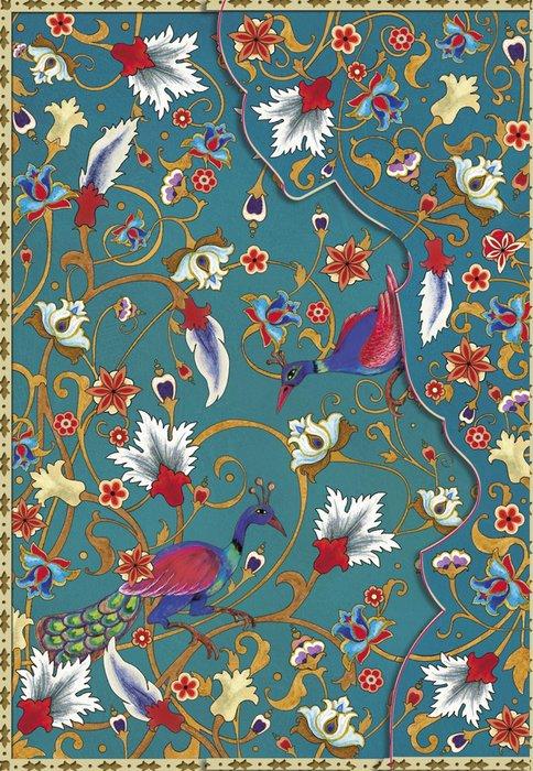 Cuaderno boncahier persa pavo real