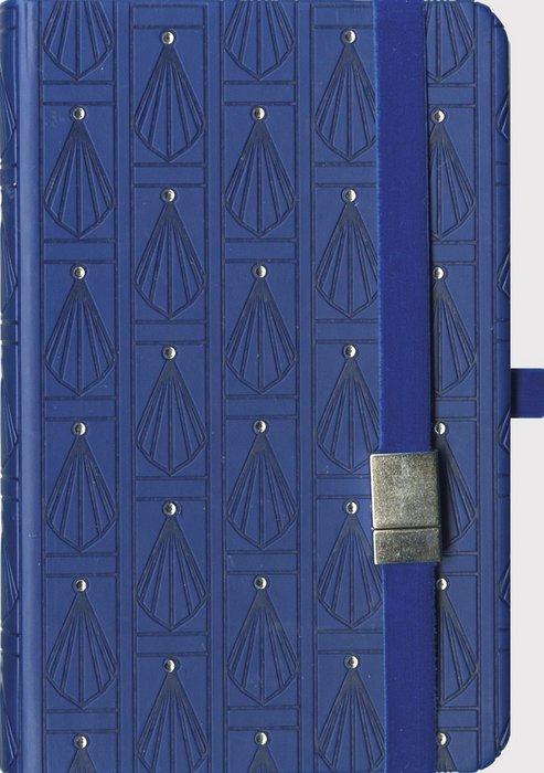 Cuaderno boncahier art deco azul marino
