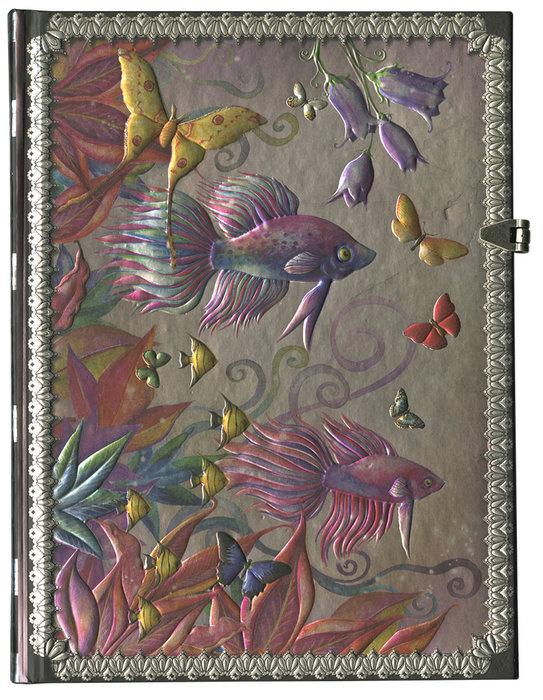 Cuaderno boncahier onirica peces y mariposas