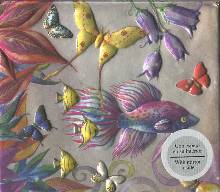 Cuaderno boncahier block mirror peces y mariposas