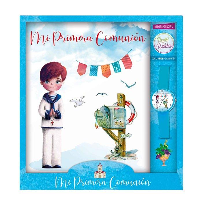 Libro comunion niÑo buzon + reloj