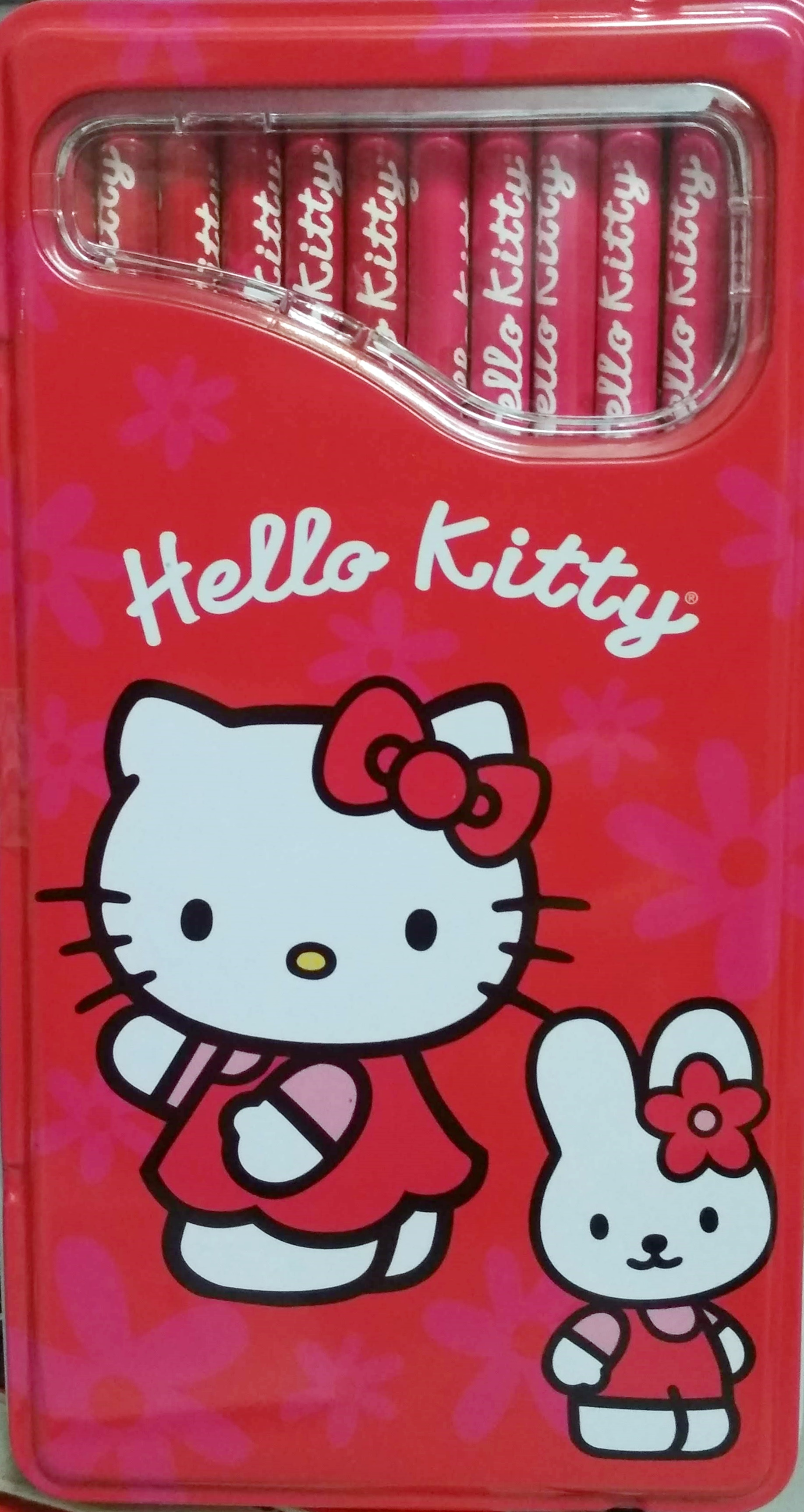 Caja metálica 12 colores Hello Kitty