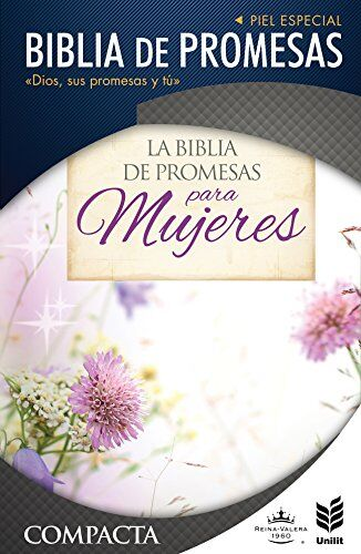 BIBLIA RVR60 COMPACTA PROMESAS I/PIEL FLORAL