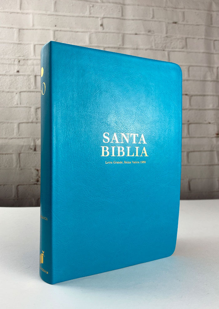 BIBLIA MANUAL LETRA GRANDE IMIT PIEL TURQUESA